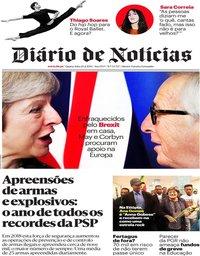 capa Diário de Notícias de 20 fevereiro 2019