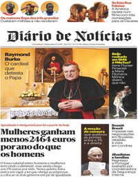 capa Diário de Notícias de 21 fevereiro 2019