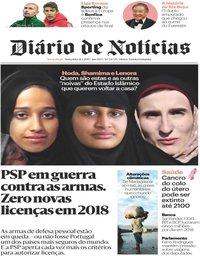capa Diário de Notícias de 22 fevereiro 2019