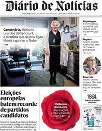capa Diário de Notícias de 23 fevereiro 2019