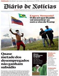 capa Diário de Notícias de 25 fevereiro 2019