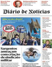 capa Diário de Notícias de 26 fevereiro 2019