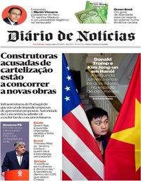 capa Diário de Notícias de 27 fevereiro 2019