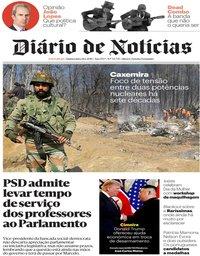 capa Diário de Notícias de 28 fevereiro 2019