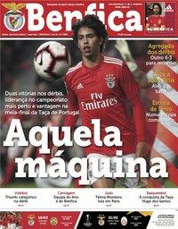 capa Jornal Benfica de 8 fevereiro 2019