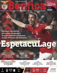 capa Jornal Benfica de 15 fevereiro 2019