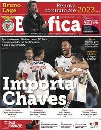 capa Jornal Benfica de 22 fevereiro 2019