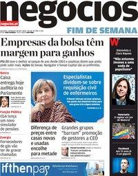 capa Jornal de Negócios de 1 fevereiro 2019