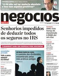 capa Jornal de Negócios de 4 fevereiro 2019