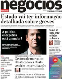capa Jornal de Negócios de 5 fevereiro 2019