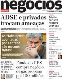 capa Jornal de Negócios de 7 fevereiro 2019