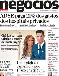 capa Jornal de Negócios de 13 fevereiro 2019