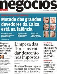 capa Jornal de Negócios de 14 fevereiro 2019