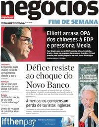 capa Jornal de Negócios de 15 fevereiro 2019