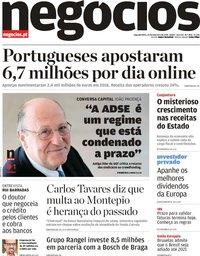 capa Jornal de Negócios de 25 fevereiro 2019