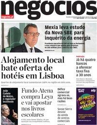 capa Jornal de Negócios de 26 fevereiro 2019