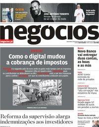 capa Jornal de Negócios de 28 fevereiro 2019