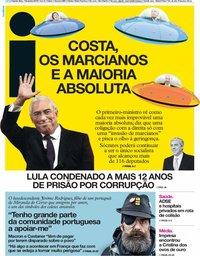 capa Jornal i de 7 fevereiro 2019