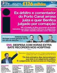 capa Jornal i de 18 fevereiro 2019