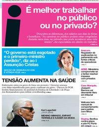 capa Jornal i de 20 fevereiro 2019