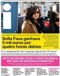 capa Jornal i de 26 fevereiro 2019