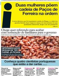 capa Jornal i de 27 fevereiro 2019