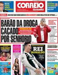 capa Correio da Manhã de 13 março 2019