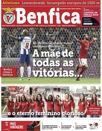 capa Jornal Benfica de 8 março 2019