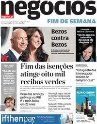 capa Jornal de Negócios de 1 março 2019