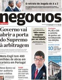 capa Jornal de Negócios de 4 março 2019