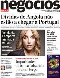 capa Jornal de Negócios de 6 março 2019