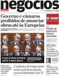 capa Jornal de Negócios de 7 março 2019