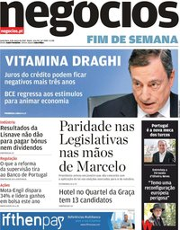 capa Jornal de Negócios de 8 março 2019