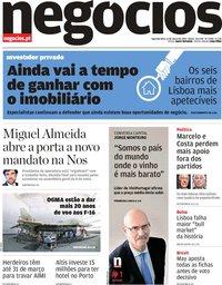 capa Jornal de Negócios de 11 março 2019