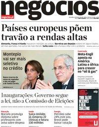 capa Jornal de Negócios de 12 março 2019