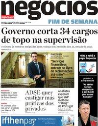 capa Jornal de Negócios de 15 março 2019