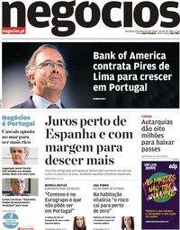 capa Jornal de Negócios de 19 março 2019