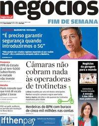 capa Jornal de Negócios de 22 março 2019