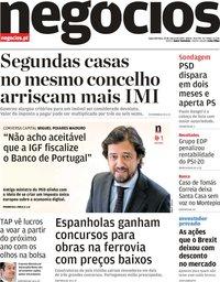 capa Jornal de Negócios de 25 março 2019