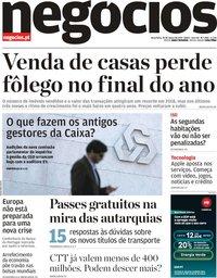 capa Jornal de Negócios de 26 março 2019