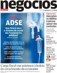 capa Jornal de Negócios de 27 março 2019