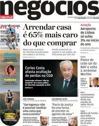 capa Jornal de Negócios de 28 março 2019