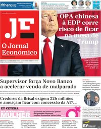 capa Jornal Económico de 8 março 2019