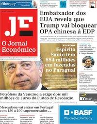 capa Jornal Económico de 15 março 2019