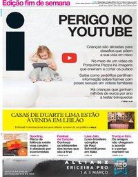 capa Jornal i de 1 março 2019