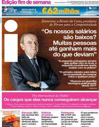 capa Jornal i de 8 março 2019