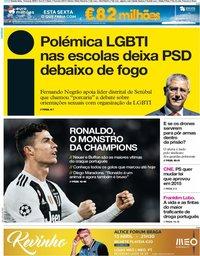 capa Jornal i de 14 março 2019