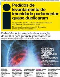 capa Jornal i de 19 março 2019