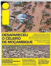 capa Jornal i de 20 março 2019