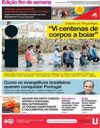 capa Jornal i de 22 março 2019